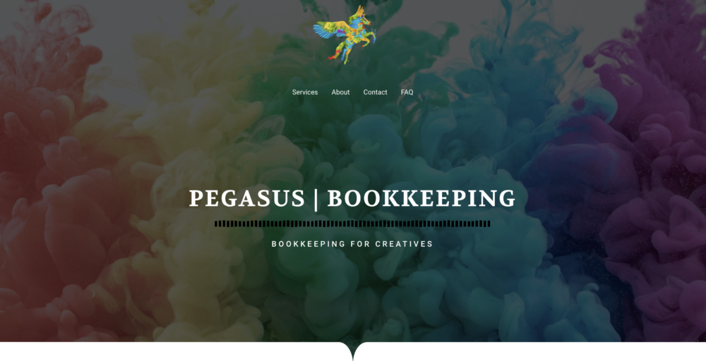 Pegasus Bookkeeping homepage