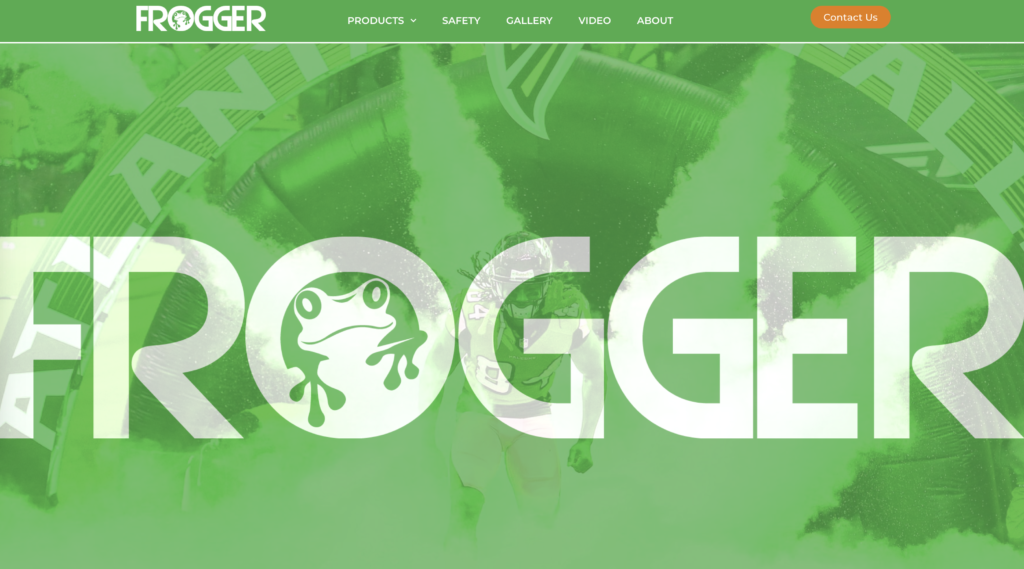 Frogger FX homepage